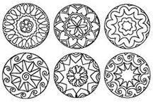 Making Mandalas  / I use those for my preschool class and for myself. I have made mandalas out of different materials and collected them in a book. I find it very relaxing to create my own mandalas.