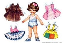 Paper Dolls / Yes, I do loved them as a child. Still like them a lot. I didn't know how many different types of paper dolls there are. I started my new collection.