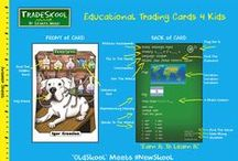 TradeSkool Trading Card Game / TradeSkool is a children's lifestyle brand that mixes a little old skool with a lot of new skool. How you ask? By using our kool trading cards that interact with our innovative website which was designed to make learning fun just for you!