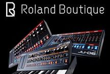 Roland Boutique / Roland Boutique Synthesizers The sound of a legend, the size of a book. The Roland Boutique line is a series of limited-edition modules that faithfully recreates some of Roland's most legendary synths. With highly-authentic sound reproduction, they're also extremely portable, with a built-in speaker and battery operation for making music whenever—and wherever—you want.