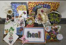 HEAL children's art / HEAL, children, arts & crafts, art, painting, colouring, artists, school, schoolchildren, Paradise Village, India,
