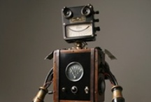 """Robots / """"To invent, you need a good imagination and a pile of junk.""""  ― Thomas A. Edison / by michael roberts"""