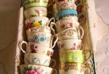 Time for tea. / Tea cups, plates, afternoon tea, all things gorgeous!