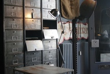 Vintage Industrial / Simple clean living with accents of colour