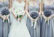 Bride & Bridesmaids   Bouquets   White & Lavender