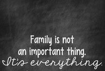 Family / Le foto o le frasi in cui si sostiene che la famiglia è tutto