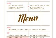Menus / by Kirsty Newell