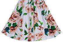 Vintage Autumn / Stunning 50's dresses in vintage autumn style and print