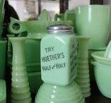 Jadeite / Beautiful vintage Jadeite lamps, glassware, kitchenware and other home decor items.