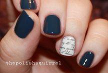 Blue Nail Art / by Samwise Gamgee