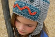 Crocheted HATS - Wacky, Fun and Silly or Just a Little Bit Nutty! / I love hats, the sillier the better.  I love to design them and make them and look at them.  They make perfect chemo hats for sweet kids fighting a terrible disease.  Put a smile on a little one's face and make him or her a WACKY HAT! : ) / by Darleen Hopkins