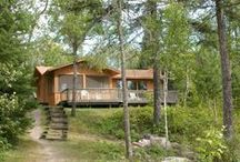Cabins with Character / A touch of class for the perfect romantic escape, home amenities for a comfortable family trip, and a rustic edge for the North Woods expereince. Shoreline cabin vacations on a wilderness peninsula at River Point Resort & Outfitting Co in Ely, Minnesota available May-October. http://riverpointresort.com/ely-minnesota-lodging.htm