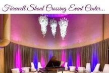 Shoal Crossing Event Center / Is Now Closed! Shoal Crossing, is a contemporary yet classic facility with an open, stylish interior. Owned and operated by Sterling Affairs Catering & Events. For booking information visit: www.shoalcrossing.com