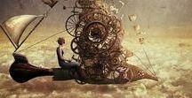 Steampunk / 'Rétrofuturisme' ou 'futur à vapeur', dans l'atmosphère de la société industrielle du XIXe siècle.