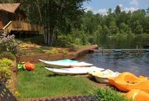 Marina Moments and Memories / An Ely, Minnesota stay at River Point Resort & Outfitting Co. comes with all the fixings! Small sandy beaches, recreational watercrafts, a water trampoline, a floating swim raft, fish cleaning service, kayaks, canoes, paddleboards, firepits, and more. http://riverpointresort.com/ame.htm