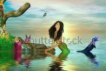 Mermaids and Sirens / Mermaid and siren illustrations