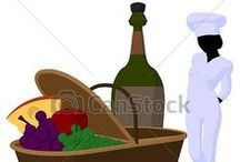 Restaurant, Chef and Menus / Royalty Free Art for Commercial Use