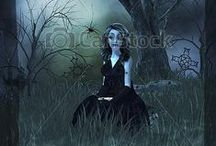 Gothic Nursery Rhymes Series / Royalty Free Art for Commercial Use