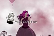 Art Prints - Pink Series  / 16x 20 Art Print for your Walls