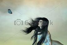 Women / Royalty Free Illustrations - Women, Females, Girls