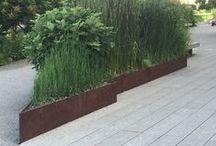NYC Highline / Planterworx Corten Edging, Planting Bed & Retaining Wall system