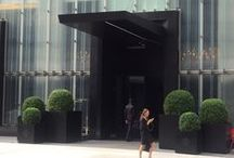 Baccarat Hotel - NYC / Powdercoated Aluminum Planters