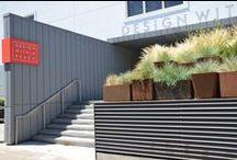 DWR San Francisco / Planterworx corten installation outside the Design Within Reach showroom in San Francisco