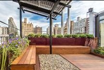 NYC Roof Terrace / Planterworx Corten planters in collaboration with  Nina Kramer Landscape Architect. NYC roof terrace installation