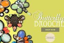 Butterfly Brooches - Nitya bajaj / Designer Nitya bajaj Butterfly Brooches. Shop Butterfly Brooches at http://www.nityabajaj.com/shop/butterfly-brooches.html