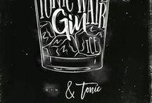 Gin & Tonic / Gin verdient dieses Board, denn Gin ist unser Sinn des Lebens!