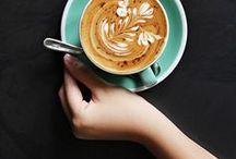 Coffee addicted. / Coffee is life. Coffee is love.