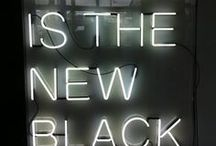 Black is back! / Black is everything.