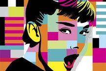 Audrey Hepburn カラフル
