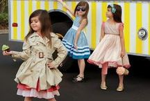Spring Style for Kids / Fashionable kids wearing their outfits for the Spring season