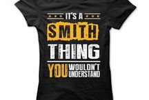 Smith Shirts / A beautiful collection of t-shirts just for the Smith family.