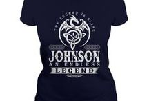 Johnson Shirts / A beautiful collection of t-shirts just for the Johnson family.