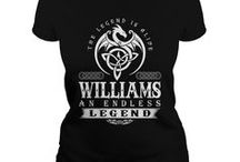 Williams Shirts / A beautiful collection of t-shirts just for the Johnson family.