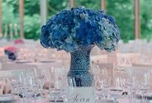 Blue / Floral arrangements and decorations in blue