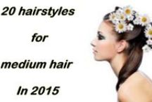 hairstyles for medium hair 2015 / Medium hair is the favorite of women from all age groups. Ask any girl or woman and you are sure to hear appreciative words about this neither long nor short hairstyle. Here we have created a catalogue of 20 images that show girls wearing various types of formal medium hairstyles.