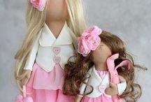 Fabric Dolls / Hand made fabric dolls