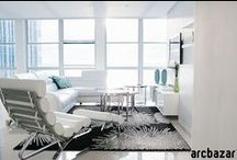Miami Beach Oceanfront Condo / Using arcbazar.com, the owners of this beautiful condo received many designs for their remodel. This is the result!  Winning design by YNL Designs, Photos by Erin Kestenbaum