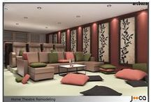 Home Theatre / Home Theatre design submissions by architects and designers from around the globe, via arcbazar.com
