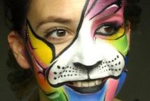 Colourful Faces / Looking to stand out? Find inspiration for your colourful designs.  You can find our Rainbow Colours Kit here: http://bit.ly/TXGajC