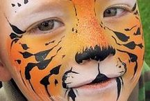 Face Painting: Orange Designs / Got spare orange face paint you're not sure what to do with? Take a look at these designs for inspiration!  You can see more of our classic colours here: http://bit.ly/VNAfxn