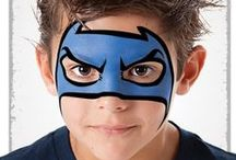 Face Painting: Blue Designs / Got spare blue face paint you're not sure what to do with? Take a look at these designs for inspiration!  You can see more of our classic colours here: http://bit.ly/VNAfxn