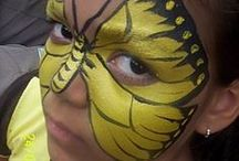 Face Painting: Yellow Designs / Have some spare yellow face paint and you're not sure what to do with it? Take a look at these designs for inspiration!  You can see more of our classic colours here: http://bit.ly/VNAfxn