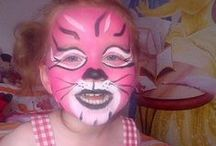Face Painting: Pink Designs / Got spare pink face paint you're not sure what to do with? Take a look at these designs for inspiration!  You can see more of our classic colours here: http://bit.ly/VNAfxn