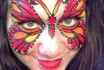 Butterfly Face Painting / Find inspiration for your Butterfly party here!  You can find our Butterfly Face Painting Kit here: http://bit.ly/Ua7mzj