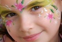 Girl's Face Paint Ideas / Find inspiration for your girl's party!  You can find our Girls Face Painting Kit here: http://bit.ly/T5NCvG  Or why not add some sparkle to your designs with our Glitter Gels: http://bit.ly/VNCtNc