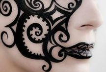 Face Painting: Black Designs